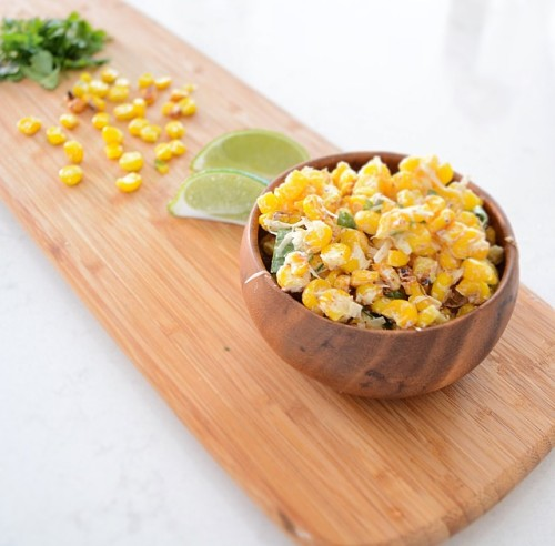Mexican Street Corn Salad (Esquites) by freshandfit.org