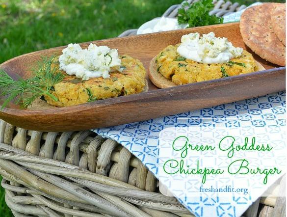 Green Goddess Chickpea Burger