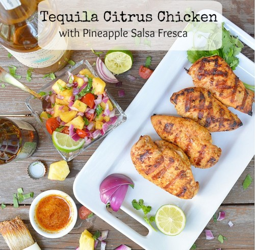 Citrus Tequila Chicken with Pineapple Salsa Fresca