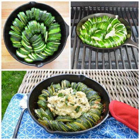 Grilled Hasselback Zucchini