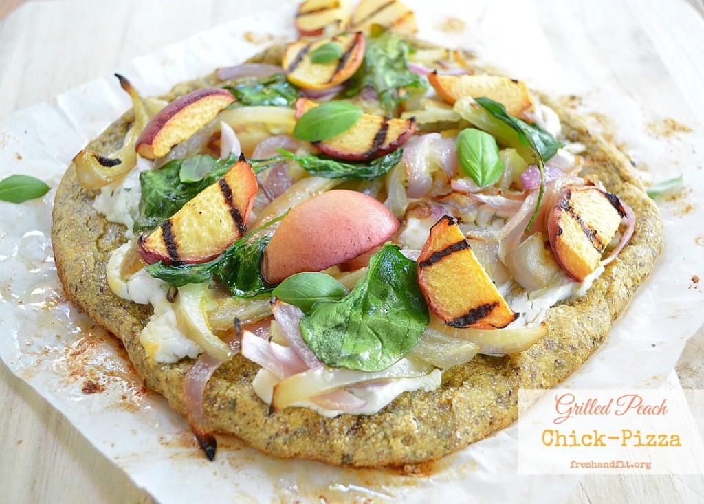 Grilled Peach ChickPizza Recipe