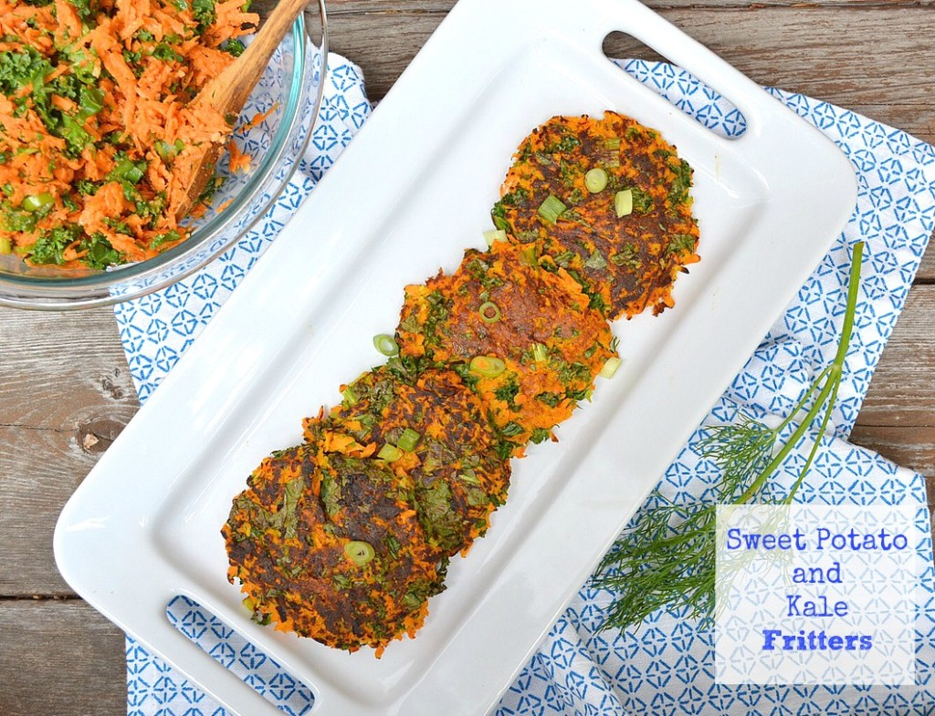 sweet potato & kale fritters recipe