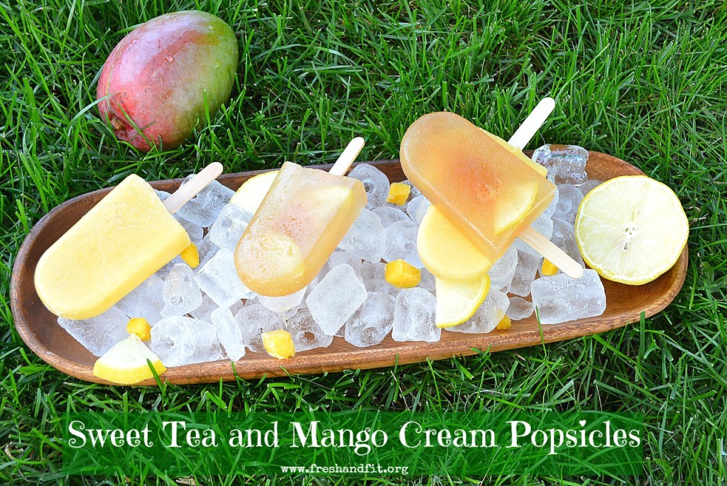 sweet tea and mango cream pops