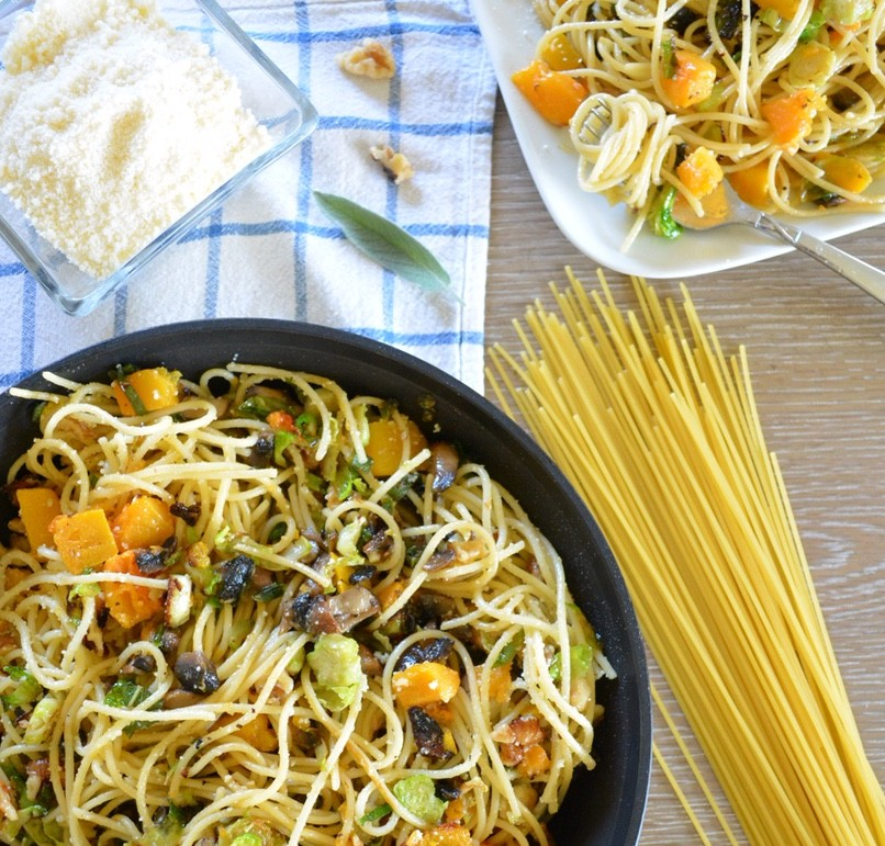 Autumn Spaghetti with Brown Butter and Sage Sauce
