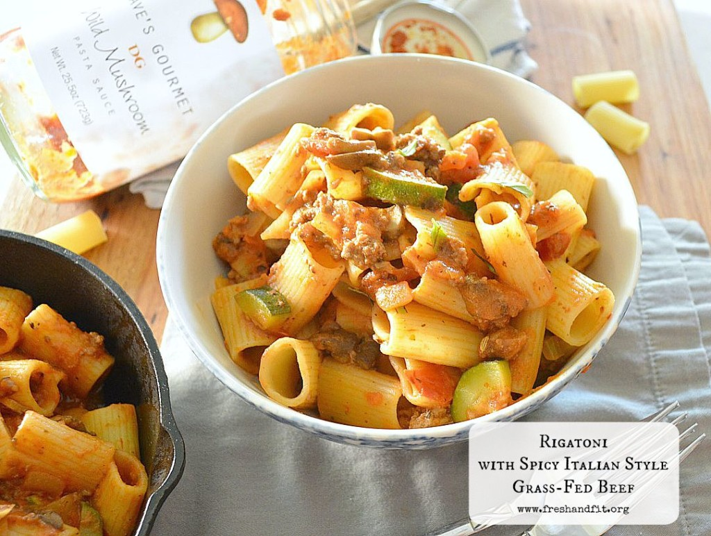 Rigatoni with Spicy Italian Style Beef Recipe