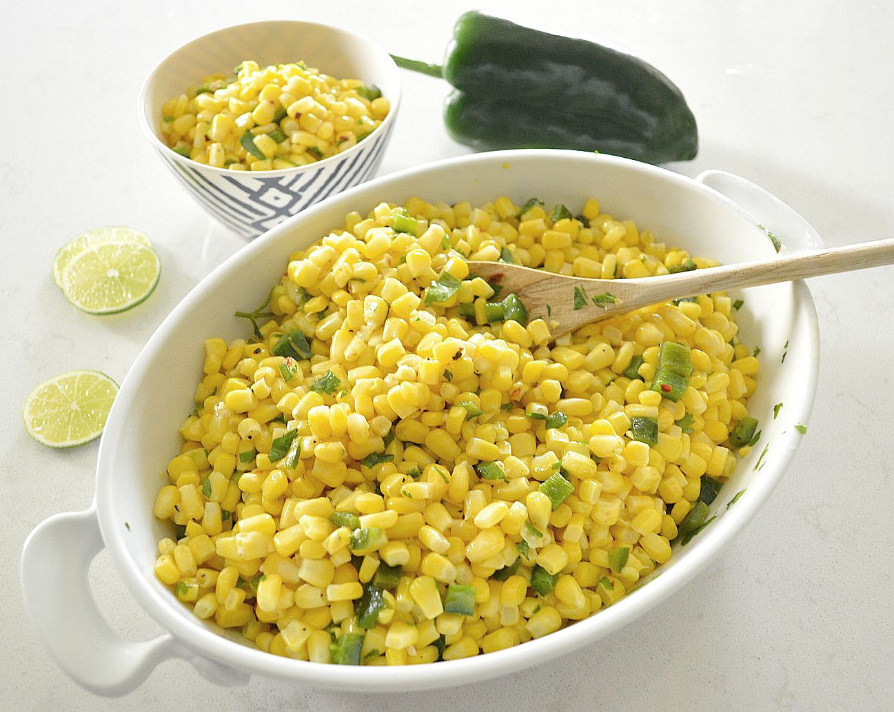 Roasted Poblano Corn Salad