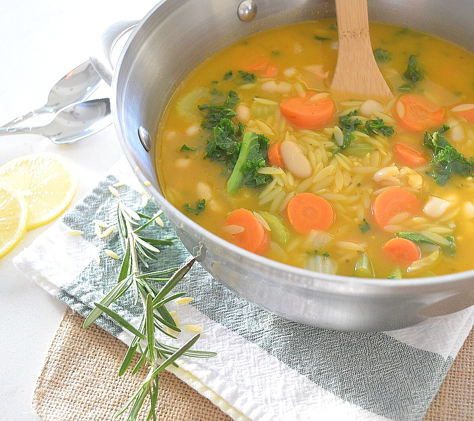 Lemon Vegetable Orzo Soup Recipe