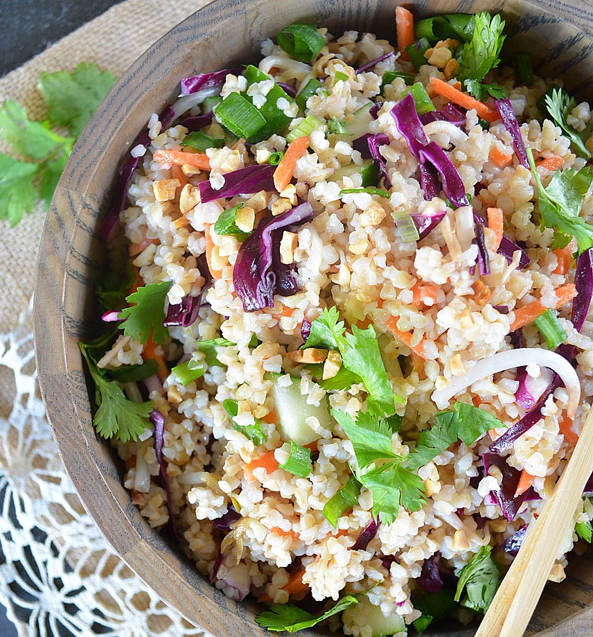 Thai Crunch Salad with Sesame Ginger Vinaigrette