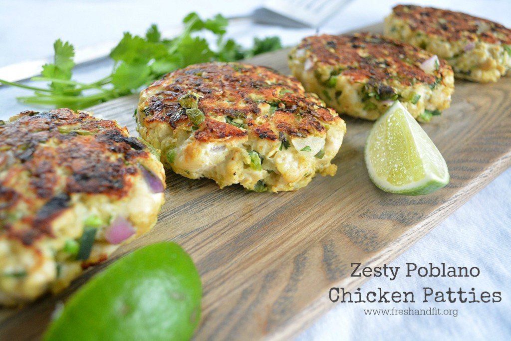 Zesty Poblano Chicken Patties Recipe