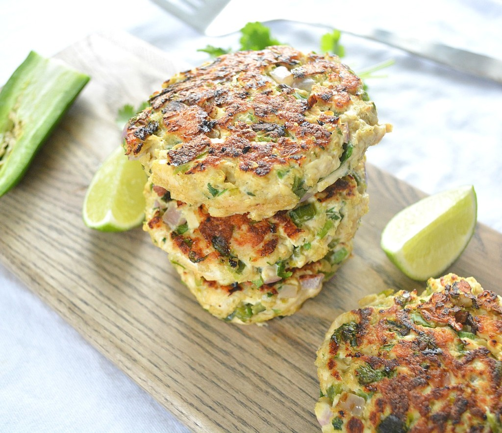 Zesty Poblano Patties