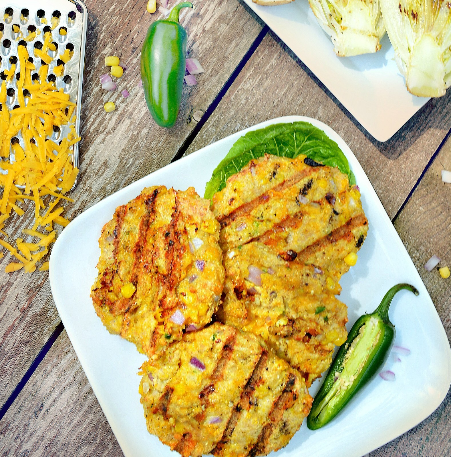 Cheesy Jalapeño Corn Burger