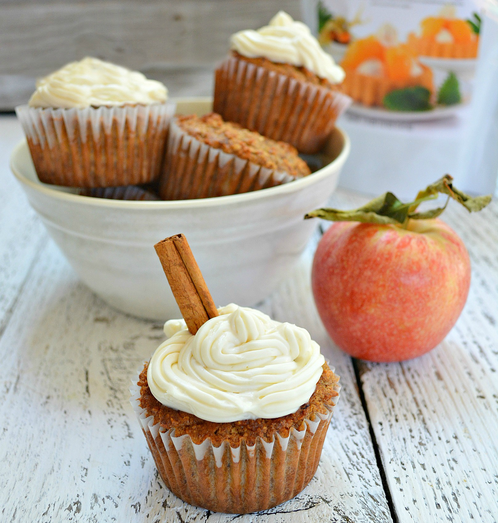 Apple Cinnamon Cupcakes with Cream Cheese Frosting