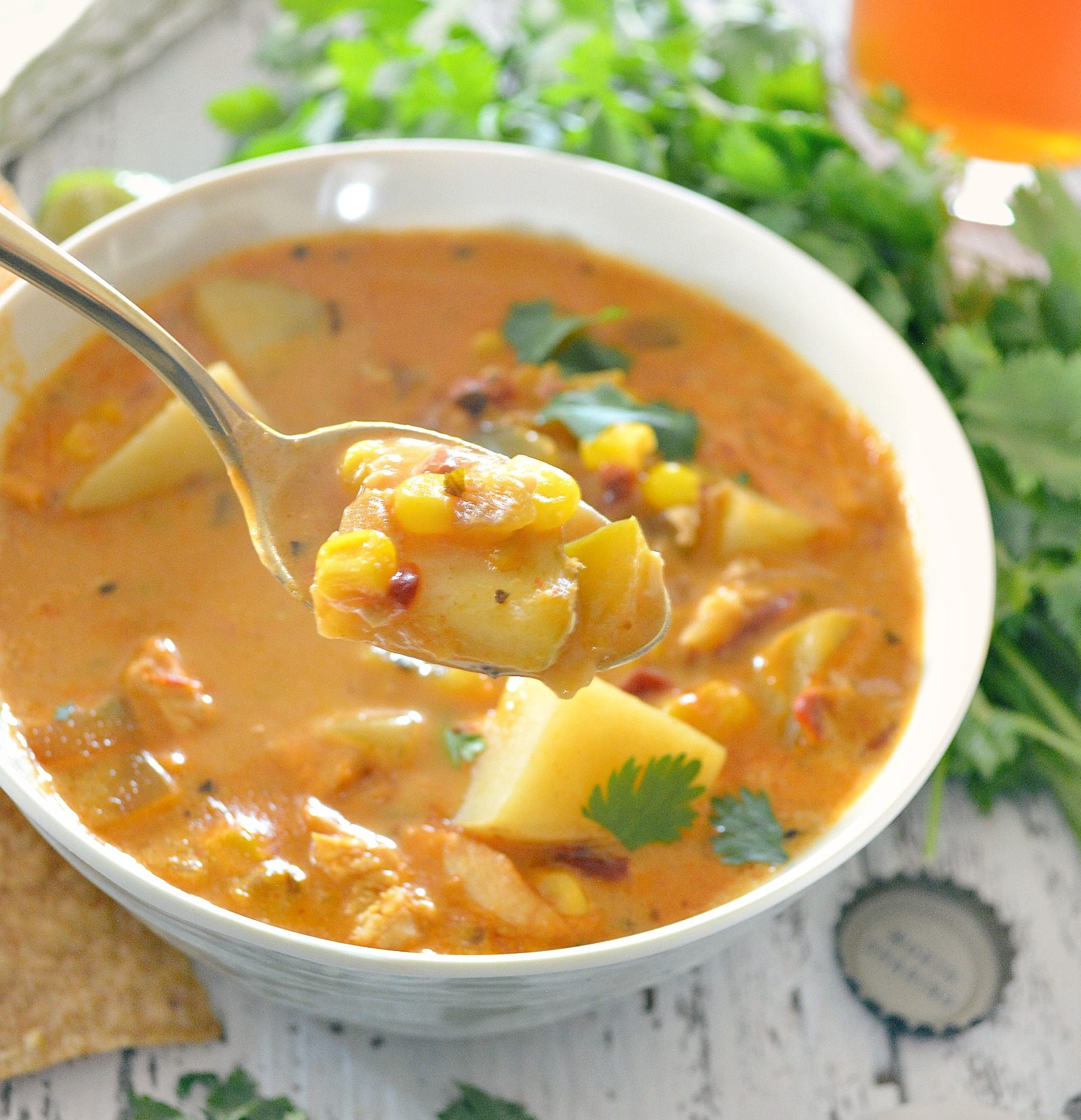 Chipotle Chicken Corn Chowder
